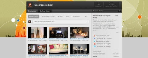 Canal Youtube Decorapolis