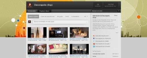 Canal Youtube Decorapolis