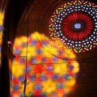 Misterioso efecto lumínico en la Catedral de Palma de Mallorca (España)