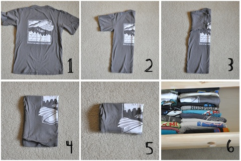 dobla las camisetas para que puedas colocarlas en vertical dentro de los cajones obtendrs ms capacidad de la encontrs ms rpido y es