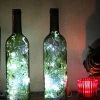 Cómo hacer luces de acento decorativas con botellas de vino en 10 pasos